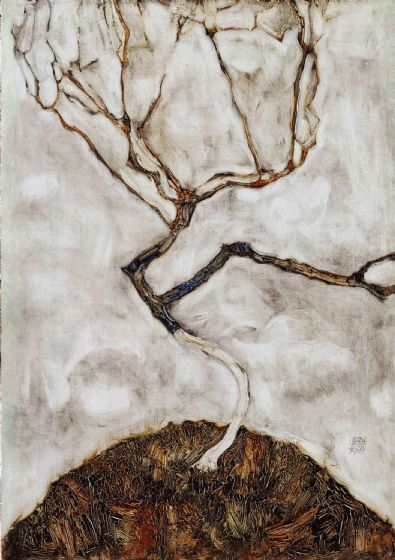 Schiele, Egon: Small Tree in Late Autumn. Fine Art Print/Poster. Sizes: A4/A3/A2/A1 (003724)